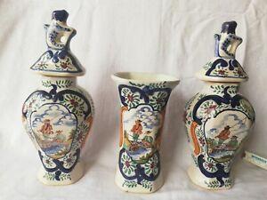 3 Delfter Porzellan Vasen