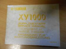 Manuel d'atelier Yamaha XV 1000 5a8 (1981) SERVICE MANUAL manuel d 'atellier