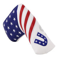 Golf Club Putter Protector Cover Blade Putter Head Covers USA Flag Magnetic