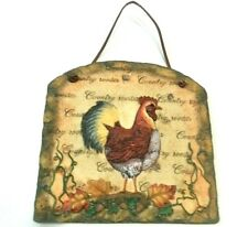 """Wall Plaque Rooster 11"""" Resin Farmhouse Country Farm Ranch Home Decor"""