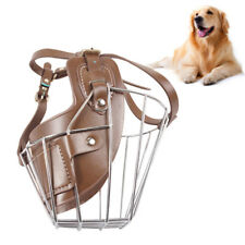 Chic Dog Muzzle Pet Puppy Wire Mouth Cage Metal Basket With Adjustable Straps