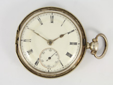 Hunter Case Spares or Repair Jw14 Antique Pocket Watch Sterling Silver Full