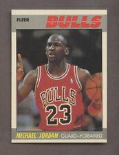 1987 Fleer Basketball #59 Michael Jordan Chicago Bulls HOF