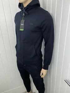 Hugo Boss Tracksuit Hooded Jacket & Pants Mens Navy BNWT Size Small £119