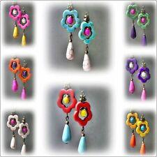 Howlite Stone Handcrafted Earrings