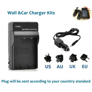 AC+DC Battery Charger for CANON EOS 350D 400D NB-2LH NB-2L PC1018 E160814 G9 G7