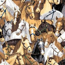 """29""""   """"Point of View"""" Packed Horses Southwestern  Fabric"""