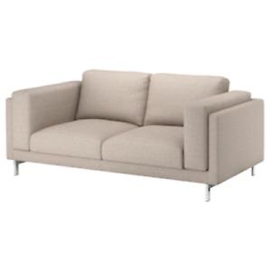 Ikea cover set for Nockeby 2 Seat Sofa in Lejde Dark Beige 503.994.84