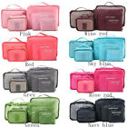6Pcs Waterproof Travel Clothes Storage Bags Luggage Organizer Pouch Packing Bag