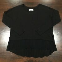 Abercrombie and Fitch Viscose and Chiffon Blend Long Sleeve Top Women's Size M