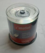 """IMATION blank recordable 3"""" inch mini cds x50 spool CD-r 23 min recording time"""