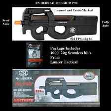 FN Herstal Licensed P90 Metal Gearbox AEG Airsoft Rifle 1000 seamless bb 522 FPS