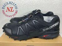 NEW Salomon Men's Speedcross 4 Trail Running Shoes ~ Black ~ Various Sizes ! !
