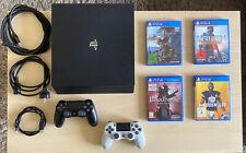 Sony PlayStation 4 Pro 1TB mit 2 Controllern und 4 Spielen