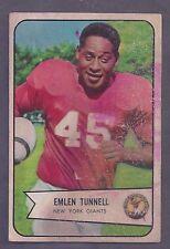 1954 Bowman #102 Emlen Tunnell New York Giants Good