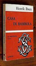 HENRIK IBSEN: Casa di bambola  prima edizione 1944  Sansoni  OTTIMO