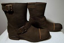NEW UGG Leather Boots LANCING Dune Brown Men's Size 8.5