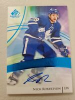 NICK ROBERTSON 2020-21 UPPER DECK SP GAME USED AUTHENTIC ROOKIES AUTO TORONTO