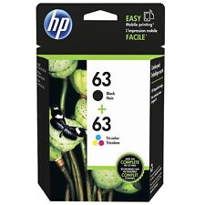 Genuine HP 63 Black F6U62AN + Color F6U61AN Ink OfficeJet 3832 3834