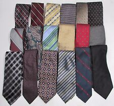 NEW Mens Lot of 3 Name Brand Silk & Other Conservative Style Blend Necktie Ties