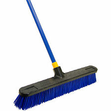 Quickie Heavy Duty Bulldozer Poly Push Broom Super Stiff 24 Inch Cleaning Tool