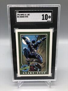 1991 Impel G.I. Joe Snake-Eyes #41 SGC 10 GEM MINT RARE