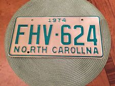 north carolina license plate 1974 Plus Matching Keychain Tag