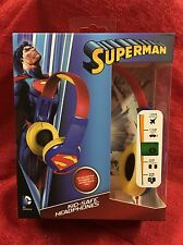 SUPERMAN Headphones Kid Safe Ages 5+ Adjustable Over-the-Ear Volume Limiting NEW