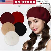 Winter Women Classic French Style Wool Beret Warm Hat Knitted Beanie Cap Autumn