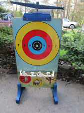 Marx Targetland Tin Litho Shooting Target Game With Stand