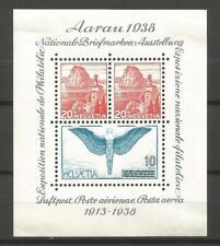 Switzerland / Helvetia / Suisse 1938 - Souvenir Sheet #4 MH * CV 50€