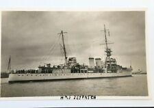 HMS DESPATCH POSTCARD, ROYAL NAVY CRUISER, WRIGHT AND LOGAN 1937