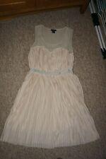 Ladies  cream  Dress H&M   size M  size 12