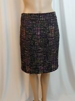 Ann Taylor Womens Skirt Pencil Size 4 Multicolor Office Work Knee Length