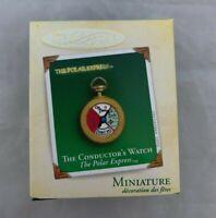 2005 Hallmark Keepsake Miniature Polar Express The Conductors Watch Ornament