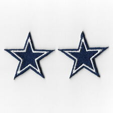 2X Dallas Cowboys Small Iron on Patches Embroidered Badge Patch Applique Sew FN
