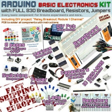 Arduino Kit - Electronic Starter Basic Pack FULL 830 Breadboard / Ships EUROPE