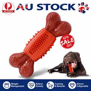 Nylon Dog bone Chew Toys Aggressive Indestructible Tough Rubber Nylon Pet Bone