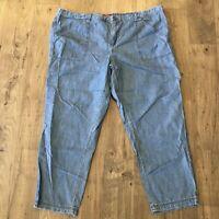 MERONA Cropped Denim Pant Pants ~ Women's Size XXL ~ 100% Cotton ~ NEW NWT