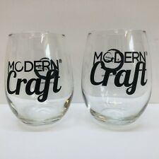 Modern Craft Wine Glass Set Of 2 Glasses 8 ounce Each A Different Kind Of Wine