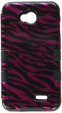 Asmyna TUFF Hybrid Cover for LG Optimus Exceed 2/L70 Hot Pink/Black