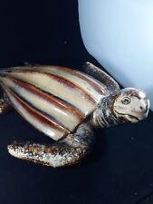 "Art Pottery Turtle Ceramic Tortoise Decoration Large 13"" Length 11"" Width"