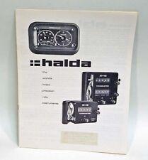 Halda Sales Brochure for Halda Tripmaster, Halda Twinmaster and Halda Speedpilot