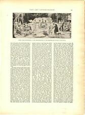 1898 Sorbonne Panel by Puvis de Chavannes Antique Vtg  Print 14x11""
