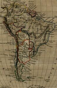 South America Continent 1837 Tardieu Perrot miniature map