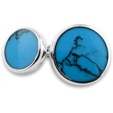 Sterling Silver Cufflinks Turquoise Round