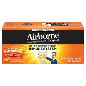 Airborne Original Pikante Orange Immune Unterstützung Ergänzung Brause Tabletten