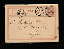 entier postal  carte  Royaume Uni   Luton   voyagée en 1877