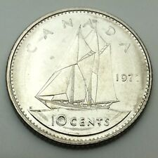 1977 Canadian 10 Ten Cents Dime Canada Uncirculated Coin Not In Case C708