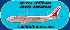 ULTRA RARE AIR-INDIA FLAG CARRIER AIRLINE OF INDIA AIRBUS A310-300 STICKER